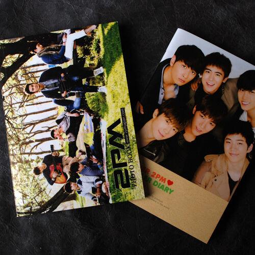K-POP 2PM MINI PHOTOBOOK 64P + 2PM PHOTO MONTHLY DIARY 64P NEW !!!