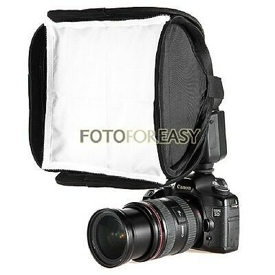"""23x23cm Softbox For Canon 600EX 430EX 580EX II SpeedLight Flash 23cm/9"""" Soft box"""