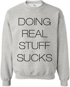 Sweatshirt-039-Doing-Real-Stuff-Sucks-039-JUSTIN-BIEBER-Pullover-Groesse-S-2XL