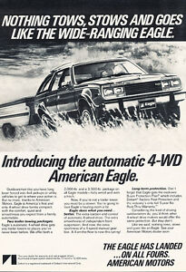 1980 Amc American Motors Eagle Tows Classic Vintage