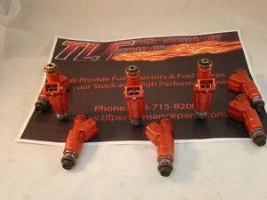 Chevrolet-1986-02-LS1-LT1-42-lbs-hr-Set-of-8-Direct-Fit-Fuel-Injectors