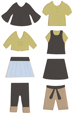 """Quickutz  """"REV-0283-D"""" Paper Doll Outfits"""