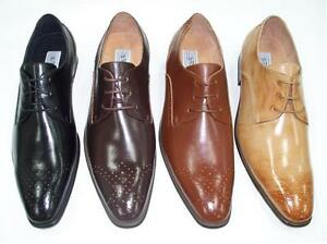 Hazan-Bravo-Marius-Men-039-s-Oxford-Dress-Shoes-Black-Brown-D-Tan-Mustard-All-Size