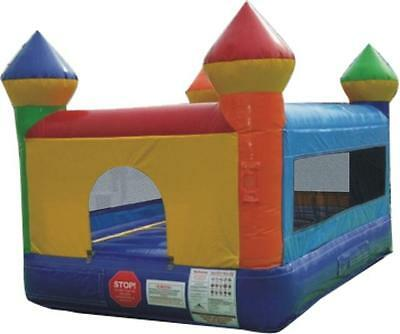 Inflatable Bounce House Junior 8 Foot Moonwalk Castle With 1.0 HP Zoom Blower
