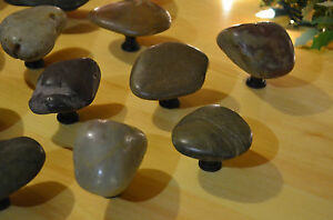 River Rock Cabinet Knobs Pull Handles Stone Rustic | eBay