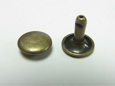 10mm x 10mm Double Cap Rivets Anti Brass 100 packs