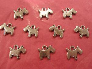 Tibetan-silver-westie-scottie-dog-charms-10-per-pack-new-line