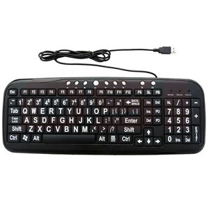 EZSee-Big-Font-Large-Print-USB-Keyboard-with-Black-Keys-Compatible-with-Windows7