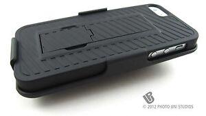 BLACK-REAR-HARD-CASE-COVER-BELT-CLIP-HOLSTER-FOR-APPLE-IPHONE-5-6TH-GEN-PHONE
