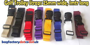 1-Meter-x-2-Golf-Trolley-webbing-straps-25mm-wide-Various-color-Luggage-straps