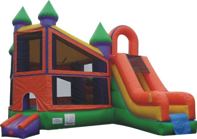Inflatable Bounce House Slide Combo Deluxe - Premium Vinyl, FREE SHIPPING