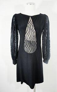 VTG-LEONA-EDMISTON-sz-1-Black-Lace-Versatile-Mesh-Cocktail-Event-Party-Dress