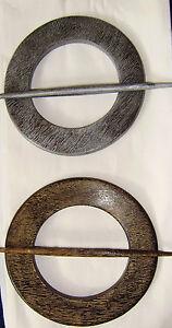 Raffhalter-Holz-Gardine-Gardinenspange-braun-oder-silber-DM-18-cm