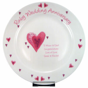... WEDDING-ANNIVERSARY-PERSONALISED-PLATE-Unique-Unusual-Funky-Gift-Idea