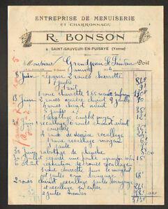 SAINT-SAUVEUR-en-PUISAYE-89-MENUISERIE-amp-CHARRONNAGE-034-R-BONSON-034-en-1934