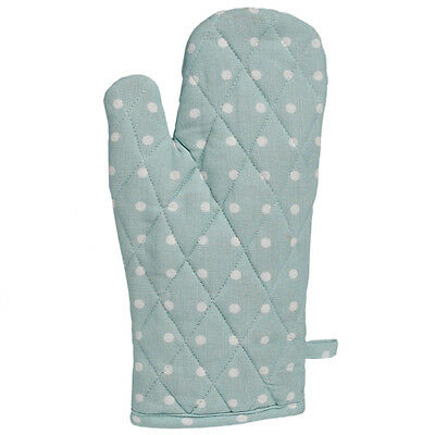 dotcomgiftshop BLUE SPOT COTTON OVEN GLOVE