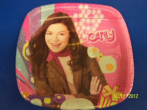 """iCarly Carly Shay Nickelodeon TV Kids Birthday Party Divided 9"""" Dinner Plates"""