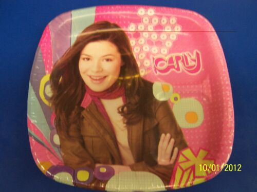"iCarly Carly Shay Nickelodeon TV Kids Birthday Party Divided 9"" Dinner Plates"