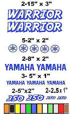 YAMAHA WARRIOR 350 STICKERS DECALS *ANY COLOR AVAILABLE*