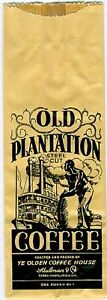 2 Plantation Coffee Bags, Negro, Vintage, Indiana 1920s