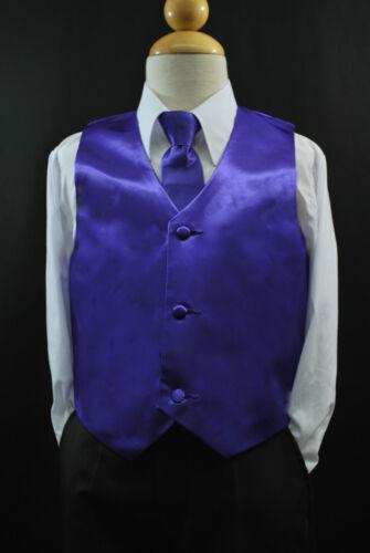 2pc Set Yellow VEST NECK TIE for Toddler /& Boy/'s Suit Tuxedo Sz 2T-14 Y1