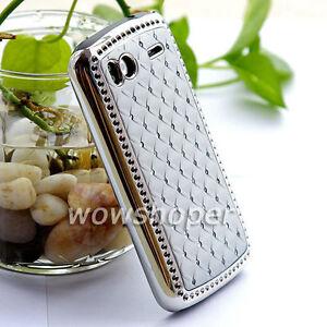 Rhinestone-Bling-Chrome-Plated-Skin-Case-Cover-For-HTC-Sensation-4G-G14-Sliver