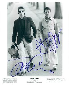 Tom-Cruise-amp-Dustin-Hoffman-Double-Signed-photo-in-the-movie-034-Rain-Man-034
