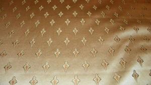 Tan-Gold-Green-Brocade-Upholstery-Fabric-1-Yard-R715