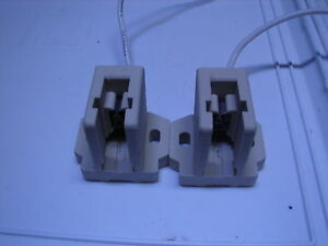 A pair of 250 watt double ended Metal Halide HQI Sockets brand new