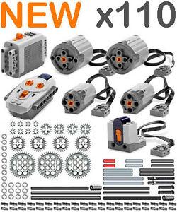 Lego-Power-Functions-PRO-Technic-Motor-Gear-Pin-Axle-bush-remote-receiver-car
