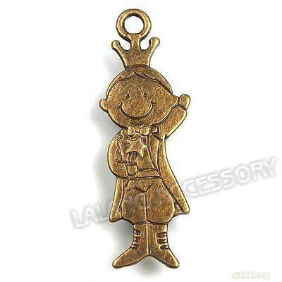 20pcs 141312 Wholesale New Bronze Dangle Pendant Gentleman Little Prince Charms