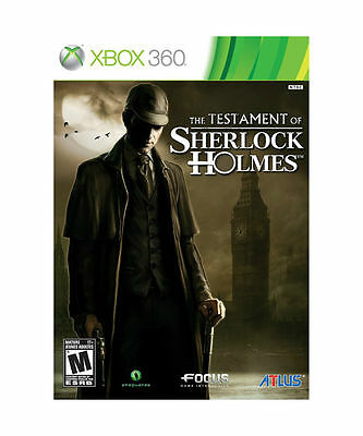 The Testament of Sherlock Holmes - Xbox 360 *Sealed*