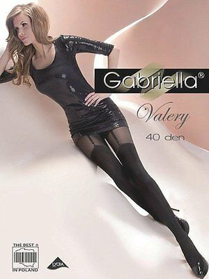 "MOCK SUSPENDER STOCKINGS-TIGHTS-GABRIELLA"" VALERY"" 40/20 DENIER"