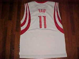 3f6aa81a4510 Yao Ming 11 Houston Rockets Reebok NBA White Red Swingman Basketball ...