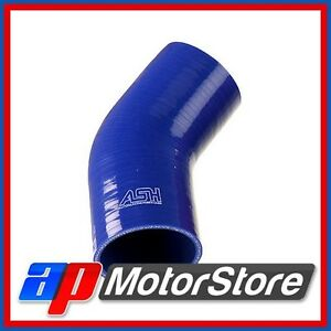 Blue-Silicone-Hose-Elbow-45-Degree-76Mm