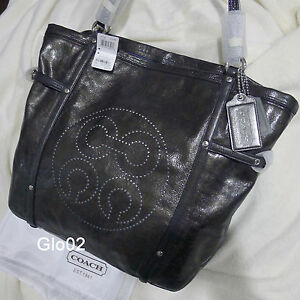 NWT-COACH-AUDREY-BLACK-LEATHER-ANDIE-CINCHED-LARGE-TOTE-SHOULDER-BAG-17034-NEW