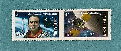 4527-4528 Mercury Project & Messenger Mission   2011 MNH SA   Space Pair Forever