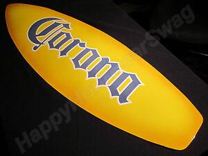 Corona-Surfboard-tin-beer-sign-pub-bar-cerveza-Surf-board-Mexico-extra-light