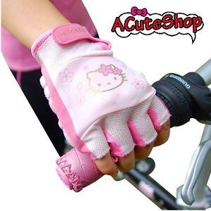 Hello-Kitty-Soft-Bicycle-Gloves-Bike-Cherry-Pink-Sanrio-Medium