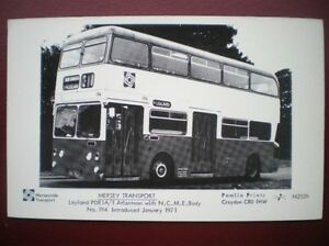 POSTCARD-BUS-MERSEY-TRANSPORT-LEYLAND-PDR1A-1-WITH-ATLANTEAN-BODY
