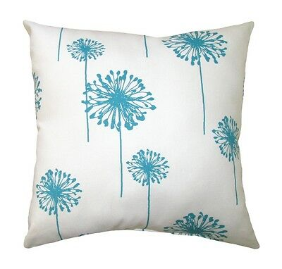 Turquoise Pillow, Premier Prints Dandelion White & True Turquoise Accent Pillow