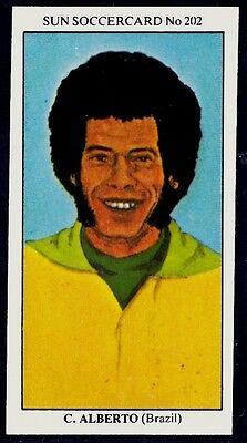SUN-SOCCERCARDS-1979-#202-BRAZIL & FLAMENGO-SANTOS-FLUMINENSE-CARLOS ALBERTO