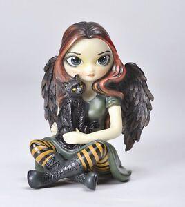 The-Scare-Crow-Black-Cat-Fairy-Statue-Jasmine-Griffith-Figurine-Strangeling