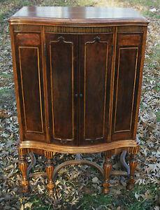 Gorgeous-1920-039-s-antique-radio-cabinet-antique-linen-cabinet-mahogany