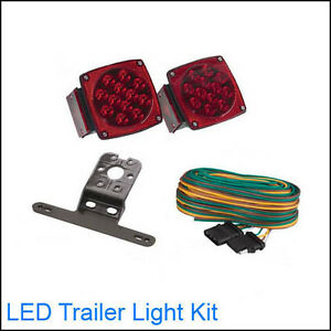 Submersible-12-Volt-LED-Trailer-Towing-Light-Kit-For-Boat-RV-Cars-Brand-NEW