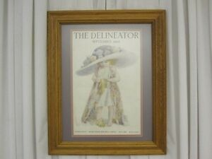 1912 Magazine Cover for THE DELINEATOR Published by Butterick Pub Co NY Framed
