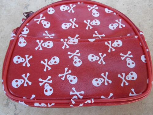 Skull /& Bones Strap Coin Purse Super Star Black Red White NWT