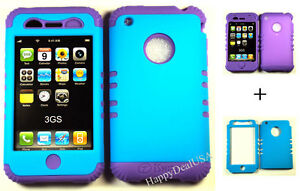 2-in-1-Hybrid-Silicone-Rubber-Cover-Case-for-APPLE-iPhone-3-3G-3GS-Purple-Blue
