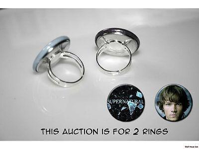 Supernatural Sam Winchester set of 2 adjustable rings