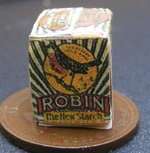 1-12-Scale-Worn-Robin-Starch-Packet-Dolls-House-Miniature-Kitchen-Accessory